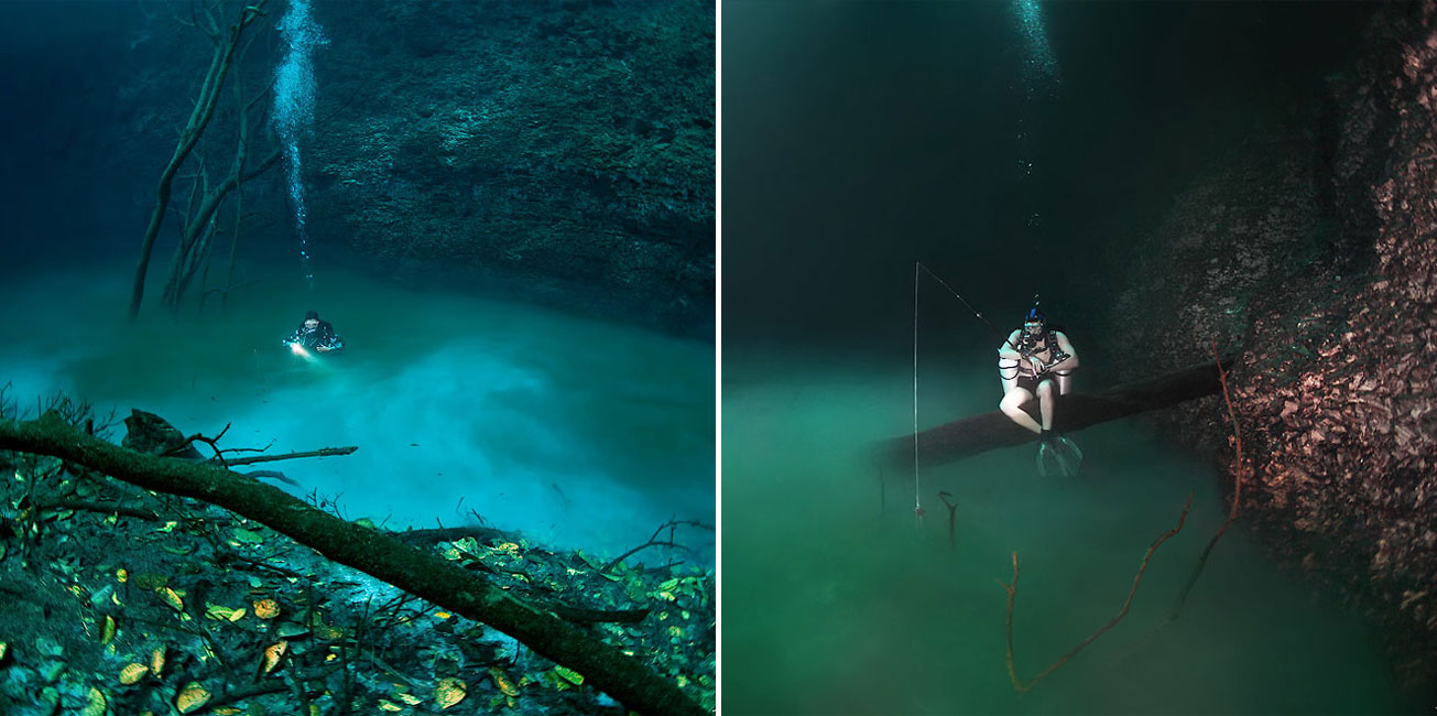 This Daredevil Diver Discovered A New River... Under Water
