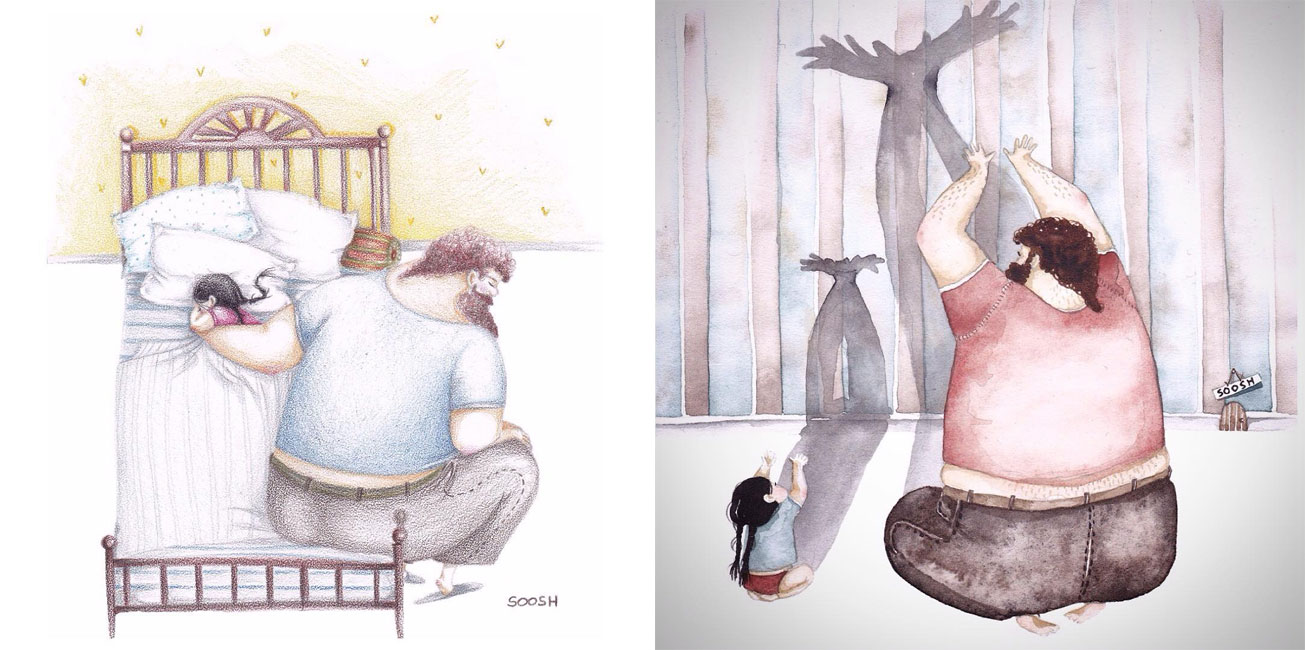 Illustrations Of A Dad And Daughter Will Give You Your Happy Cry For Today