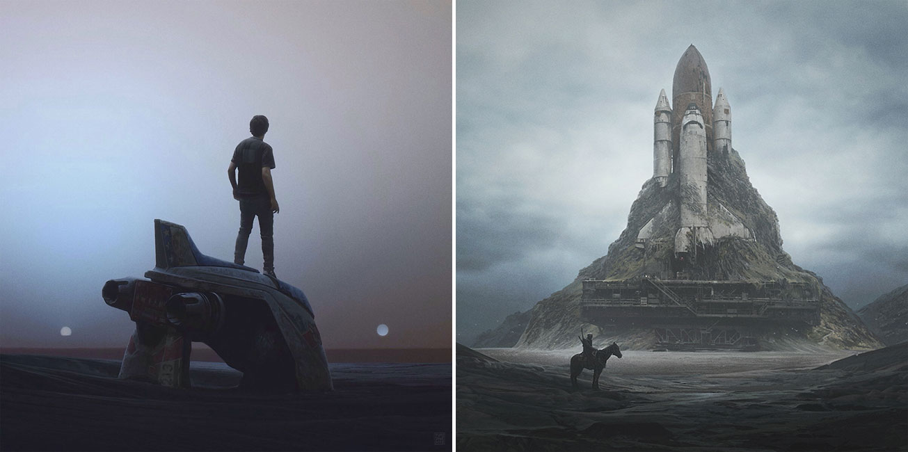"""The Way We Fall"": Eerie Illustrations Of An Apocalyptical World By Yuri Shwedoff"