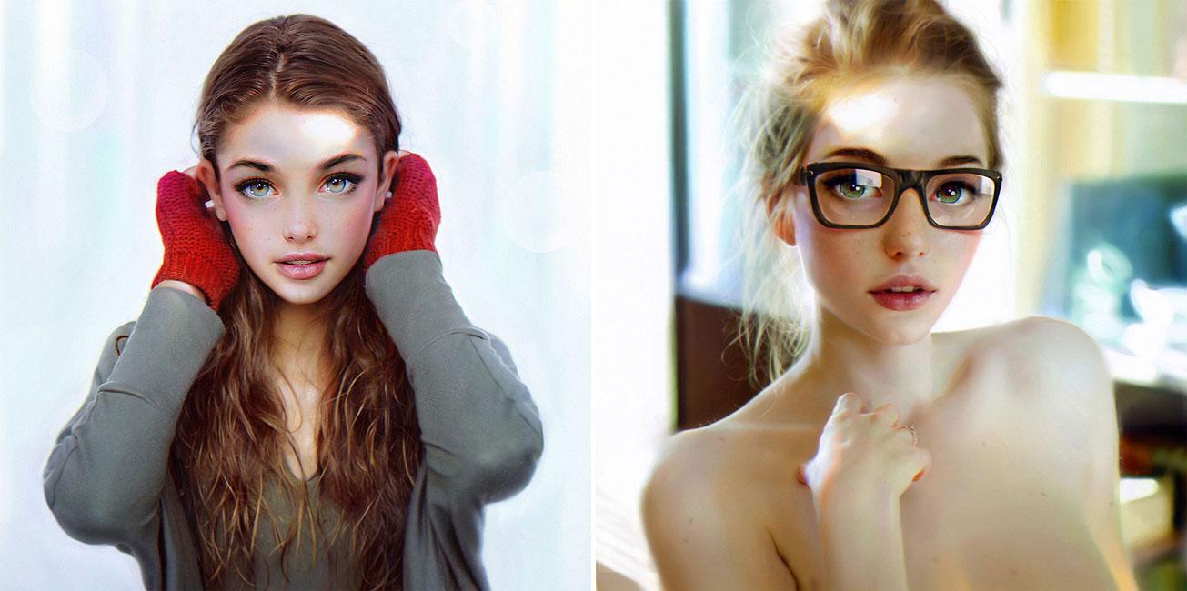 Stunning Digital Female Portraits By Irakli Nadar
