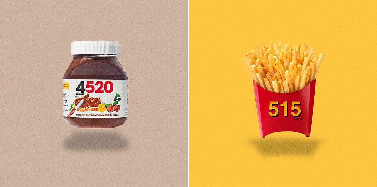 Honest Food And Beverage Logos With Calorie Count On Them