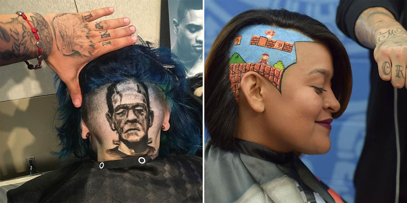 This Barber Artist Creates 3d Portraits In Peoples Hair
