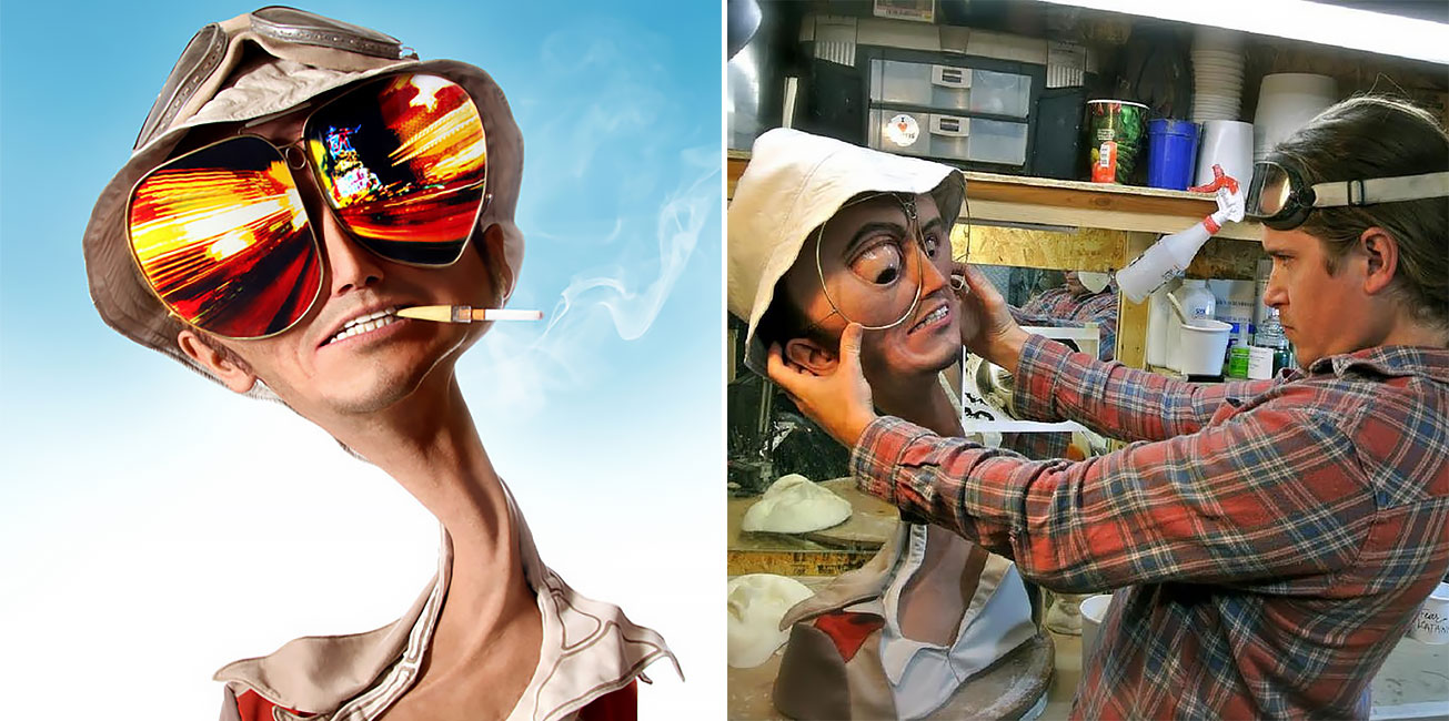 An Artist Sculpted Hunter S Thompson S Fear And Loathing