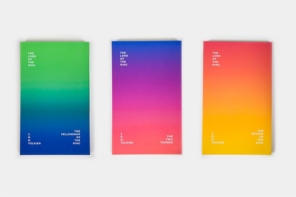 "Bold, Minimalist ""Lord of The Rings"" Book Covers Feature Bright ..."