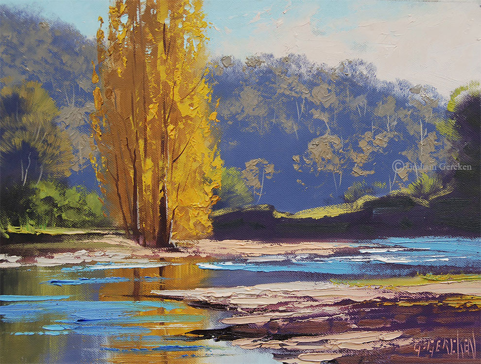 Beautiful Australian Landscape Oil Paintings By Graham