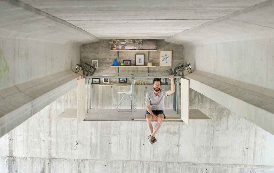 Spanish Designer Fernando Abellanas Works In A Secret Studio Right Under The Bridge
