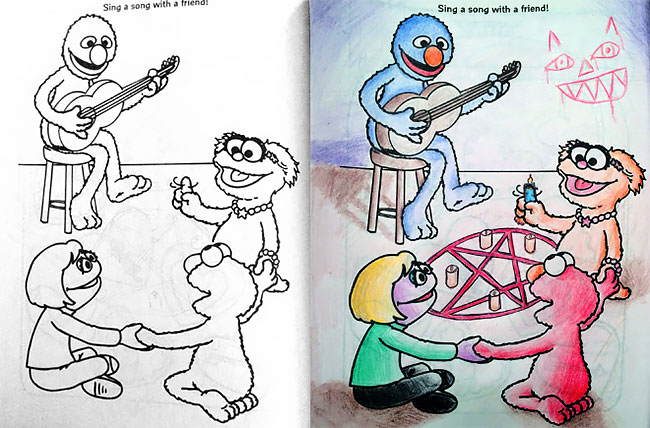 Hilarious NSFW Coloring Book Corruptions To Ruin Your Childhood Fun