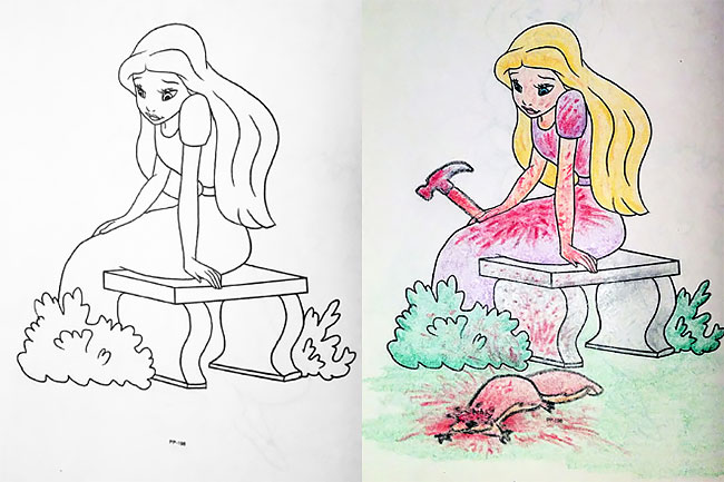 Childhood Coloring Books Become Hours Of NSFW Adult Entertainment More Info Reddit
