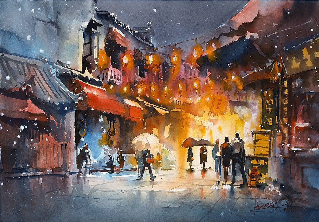 This Artist Captures Her Travels In Beautiful Watercolor Paintings