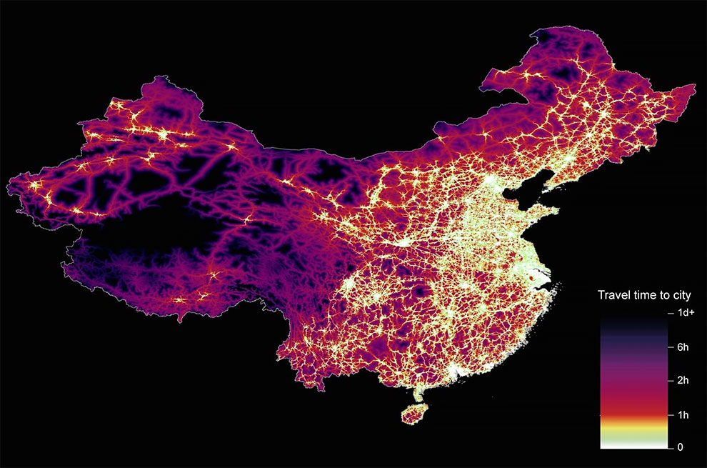 Travel times to cities around the world design you trust the dataset used for china was unique as it relied solely on open street map due to restrictions on accessing google data the population is densely gumiabroncs Gallery