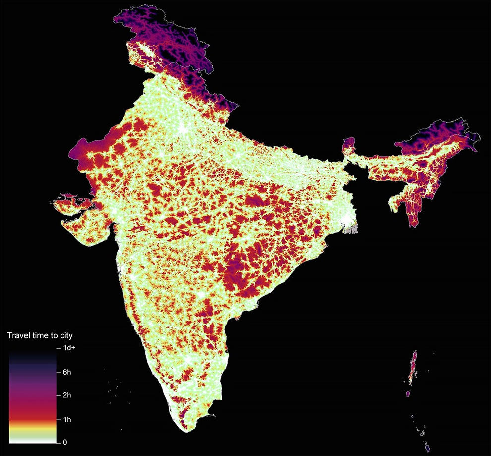 Travel times to cities around the world design you trust india nearly 91 of people in high income countries live within one hour of a city compared to almost 51 of people in low income countries gumiabroncs Gallery
