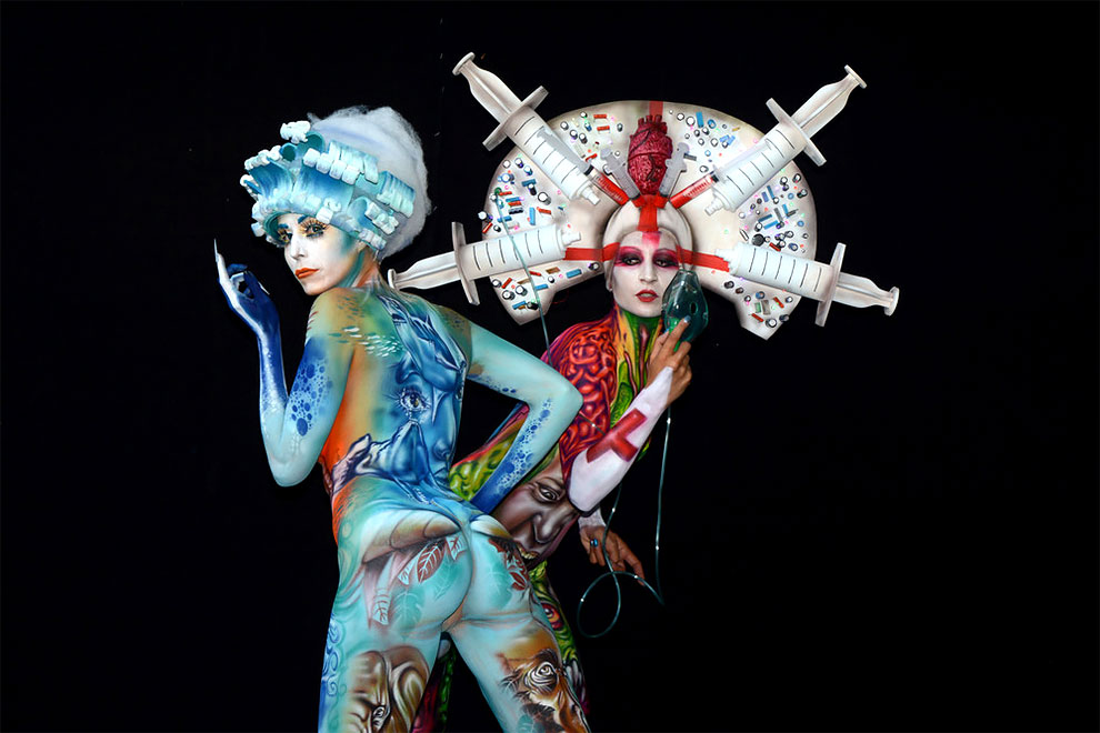 spectacular body artworks from the world bodypainting