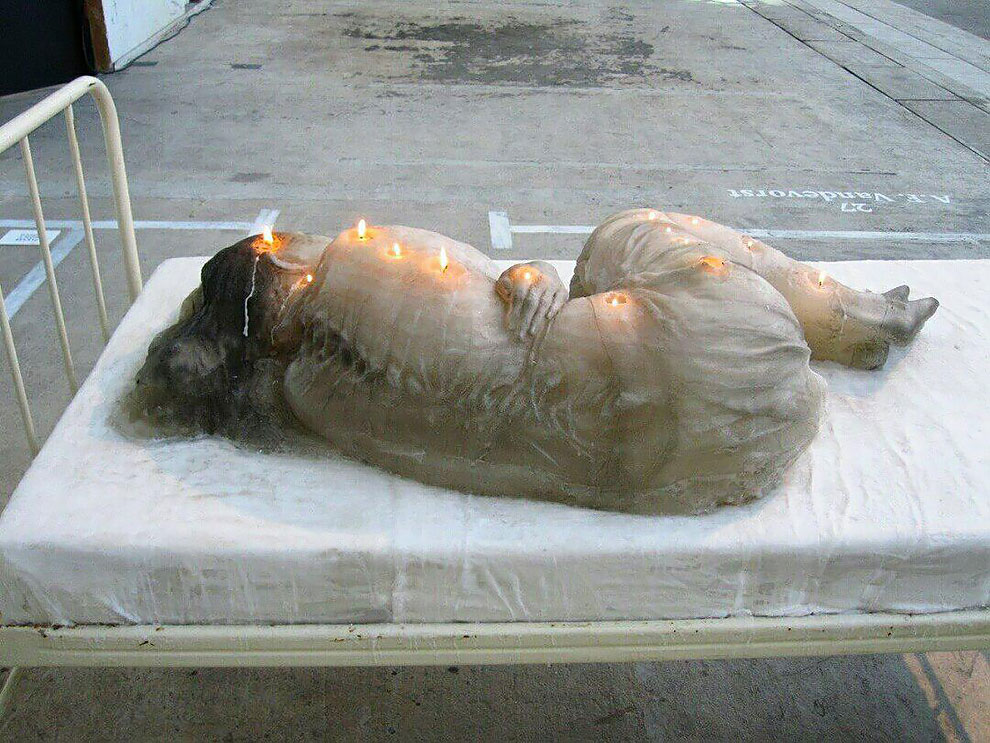 Wax Sculpture Of Sleeping Woman Doubles As Candle