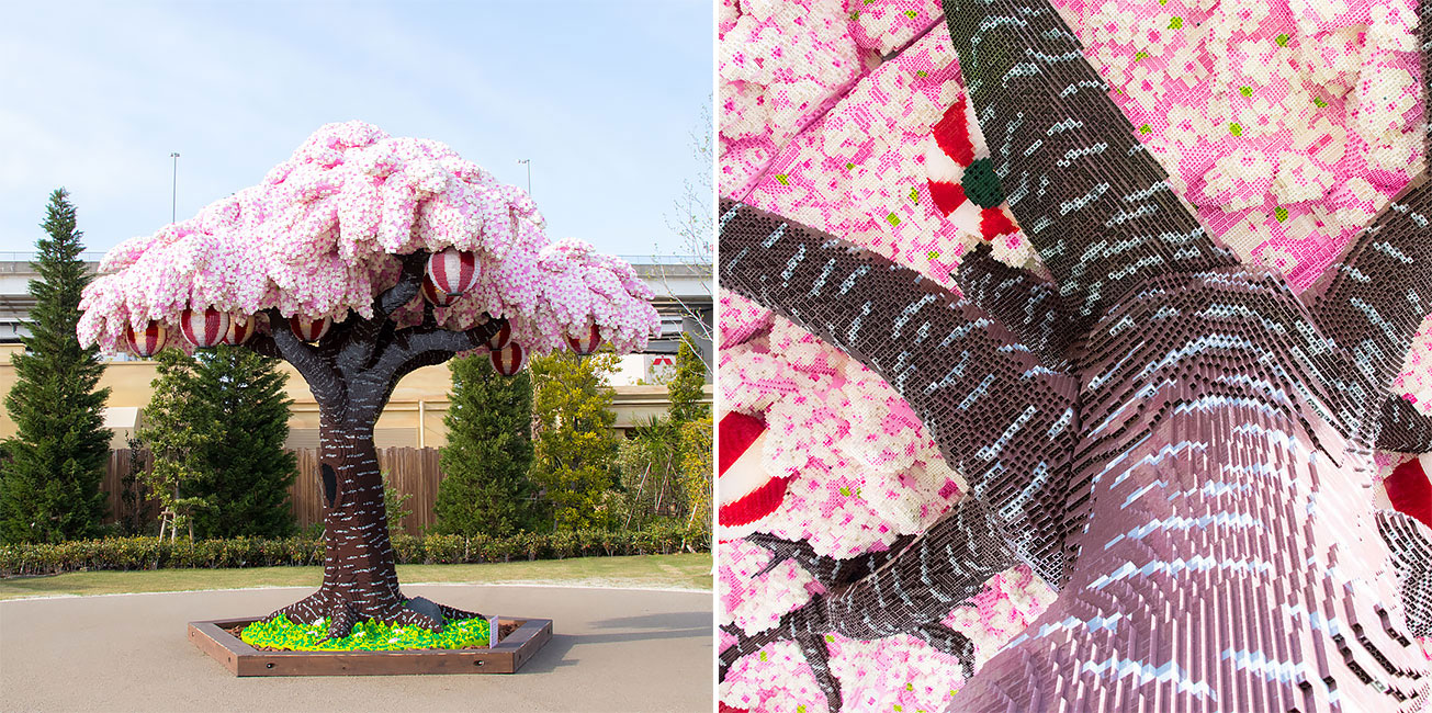 The World S Largest Lego Cherry Blossom Tree Blooms In Japan