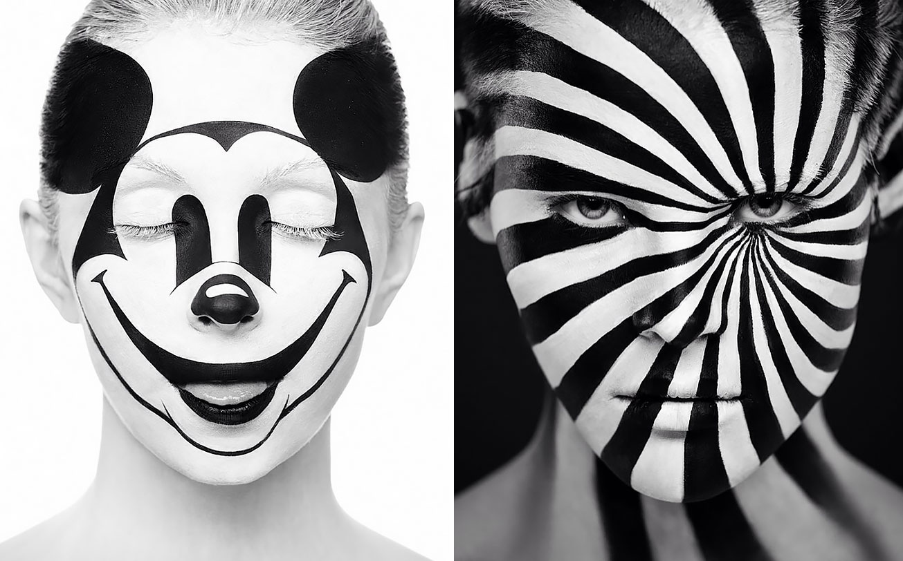 Russian Duo Creates Sleek Optical Illusion Portraits That Will Inspire Your Day