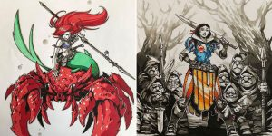 11 Disney Warrior Princesses Turned Badass By Russian Artist Artemii Myasnikov