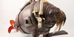 Amazing Brand New Steampunk Sculptures From Trash By Artūras