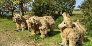 Japanese Artists Continue The Tradition Of Rice Harvest Season By Creating Gigantic Straw Sculptures