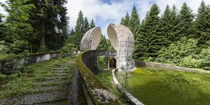 Enigmatic And Brutalist Post-Communist Sculptures In The Balkans