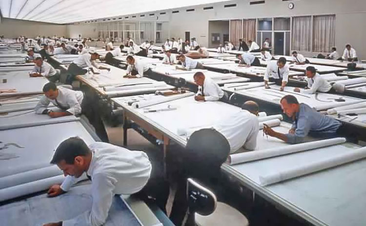 Amazing Vintage Photos That Show How Life Before AutoCAD Looked Like