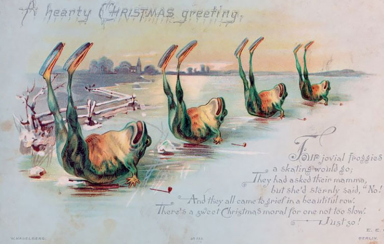Artworks Christmas Cards.Bizarre And Creepy Vintage Christmas Cards From The