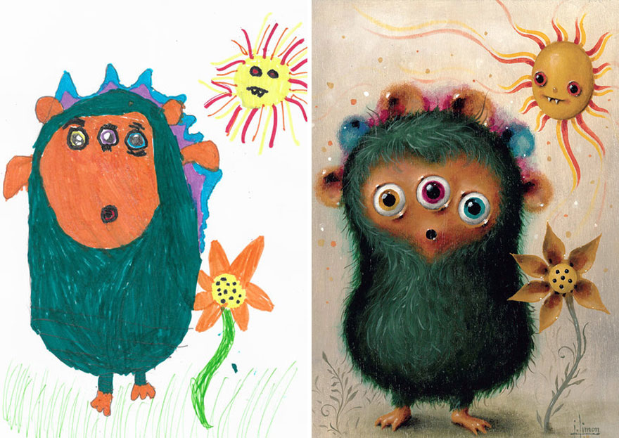 What Happens When Professional Artists Recreate Kids ...