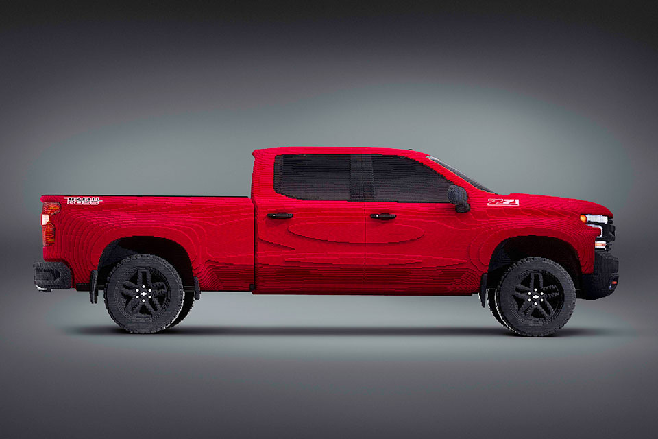 chevrolet has another life size lego build this time its a silverado. Black Bedroom Furniture Sets. Home Design Ideas