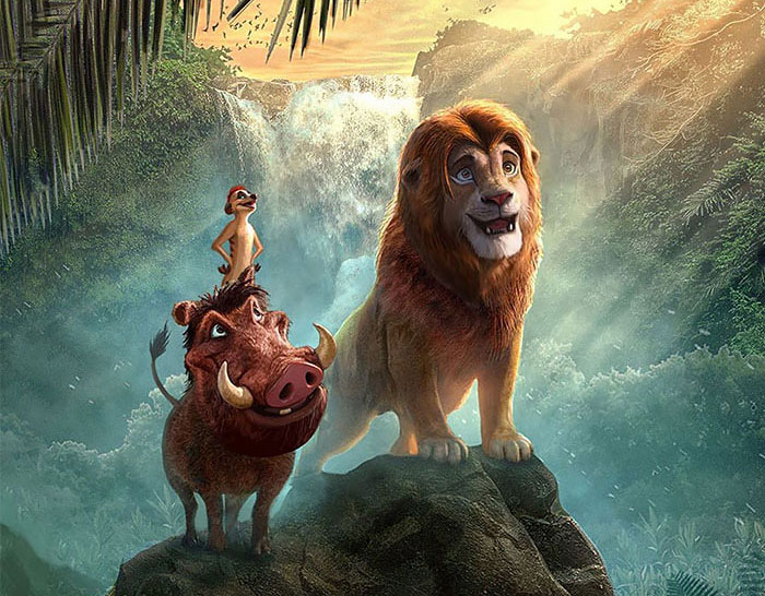 Artists Give The Lion King Live Action A Cartoon Edit