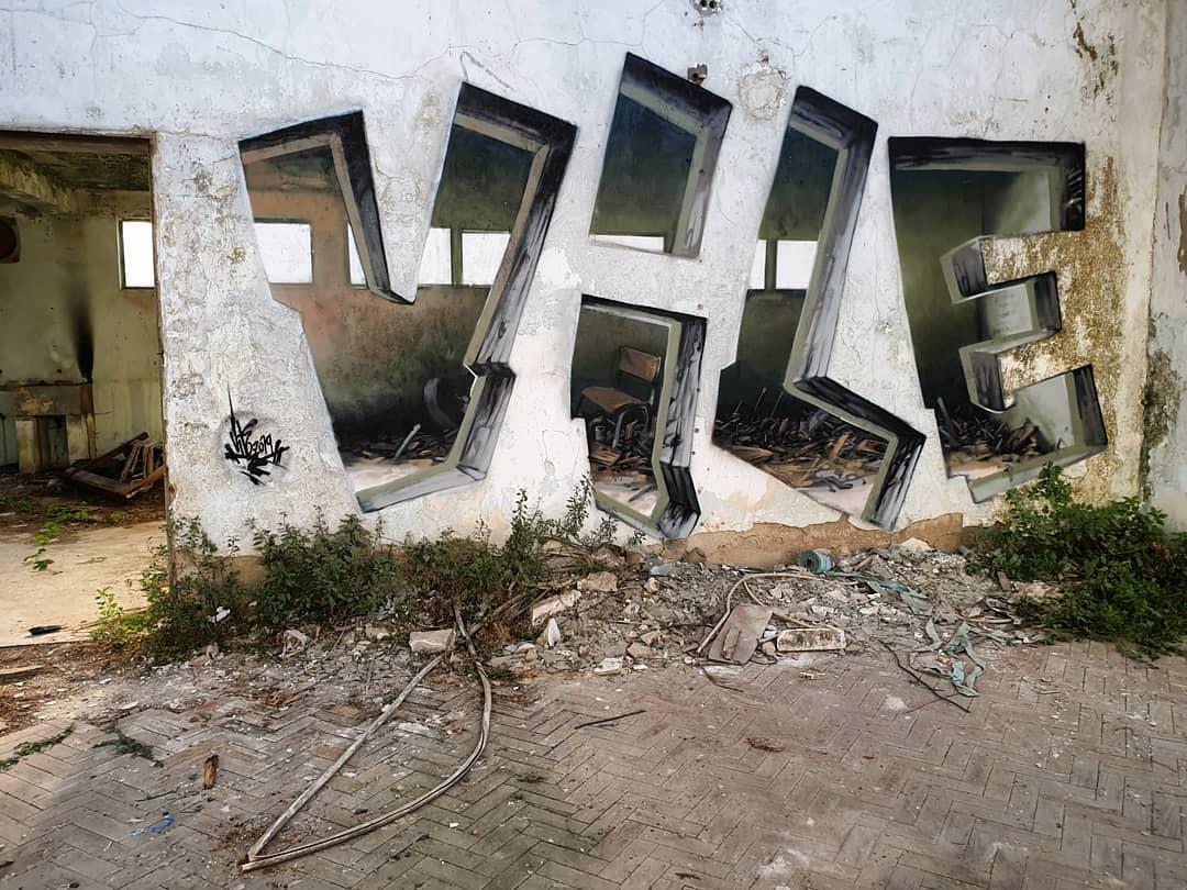 This Graffiti Artist Makes Walls Appear Transparent Using
