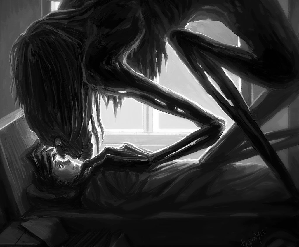 The Horror Of Sleep Paralysis Hallucinations Revealed In 46 Dark Drawings