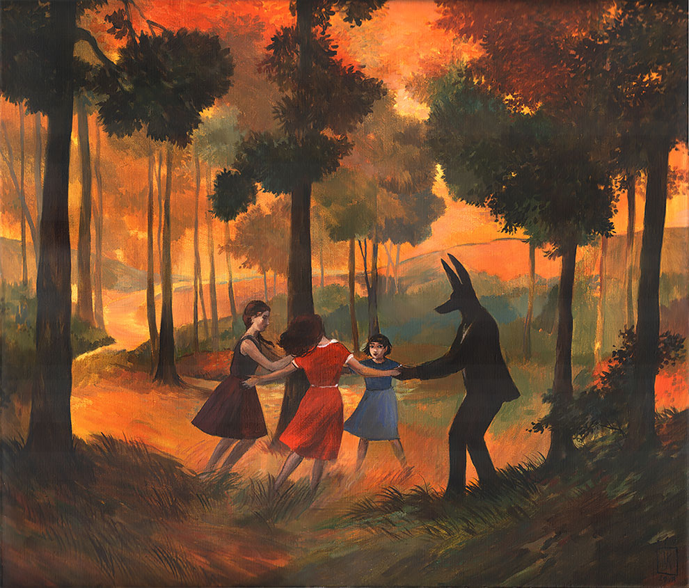 The Ordinary Life of Anubis, a God of Death, in Melancholic Illustrations by Joanna Karpowicz