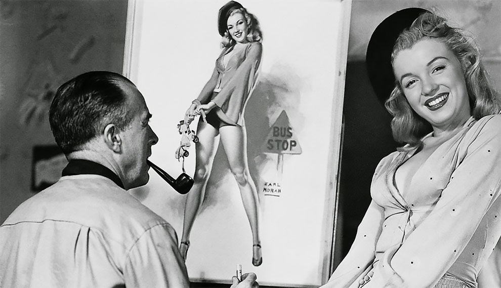 Before She Was Famous, Marilyn Monroe Was Paid Just $10 an Hour to Pose for Pin-up Artist Earl Moran in the Late 1940s