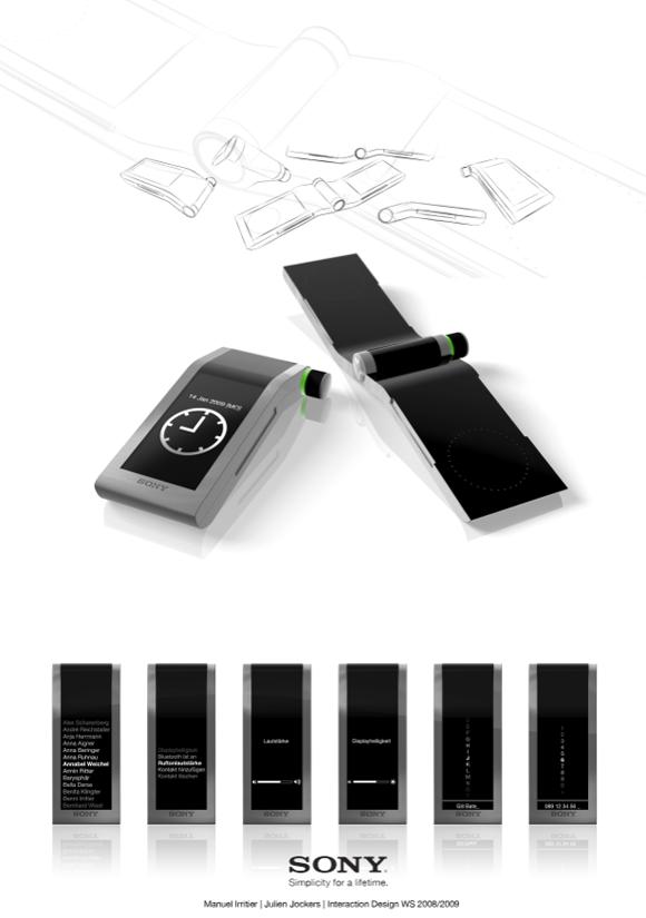 Bild1 02 Sony Simplicity   A mobile phone concept