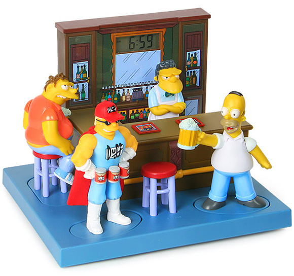 bar The Simpsons Talking Bar Buddies Alarm Clock