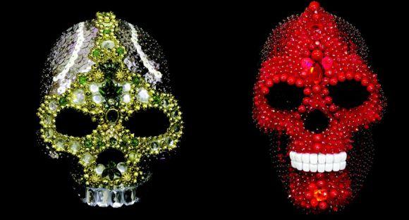 skull Jeweled skulls by Amy Sarkisian