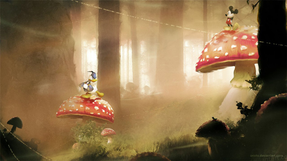 Mickey and Donald by Orioto Video games fan art