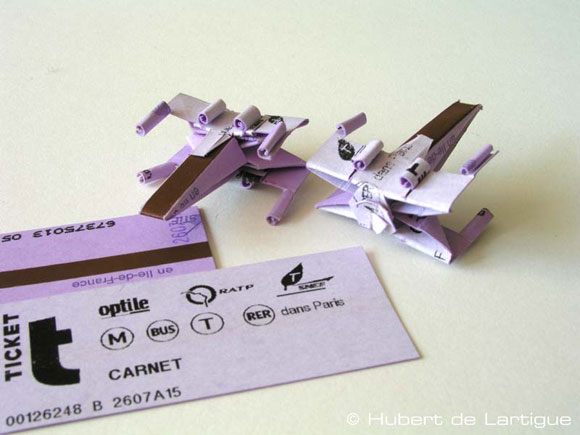 Xwing How to do a X Wing with metro tickets.