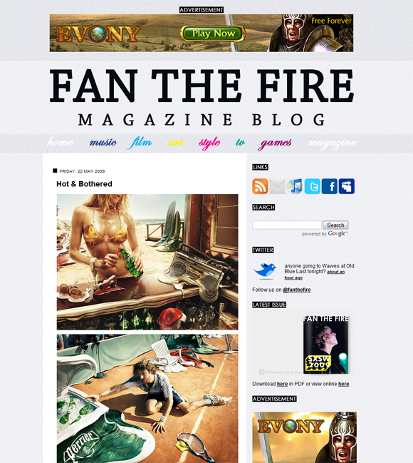 ftfblog Fan the Fire Magazine redesign