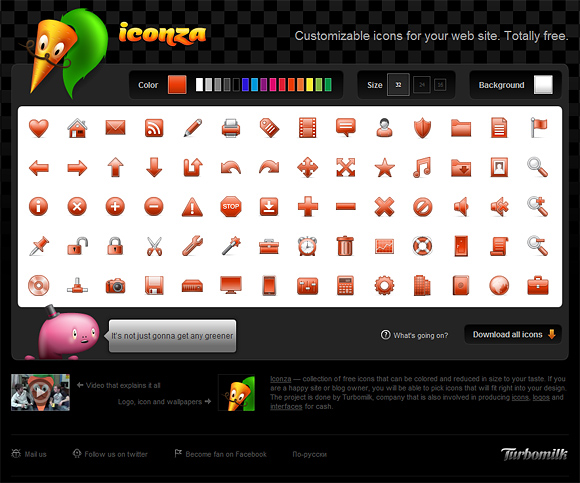 iconza Customizable Icons for Your Web Site. Totally Free!