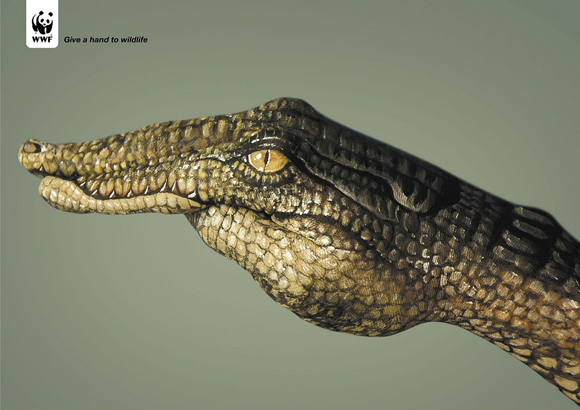 wwfcrocodile small give a hand to wildlife campaign
