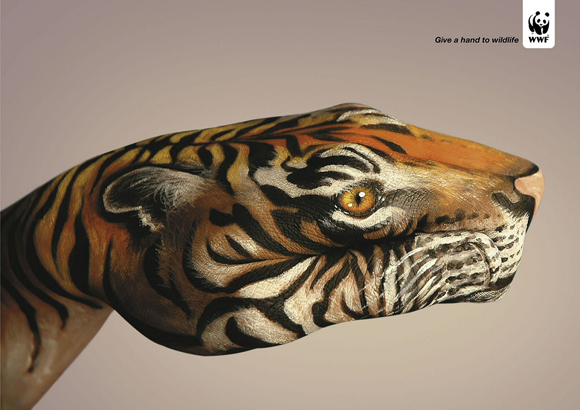 wwftigre small give a hand to wildlife campaign