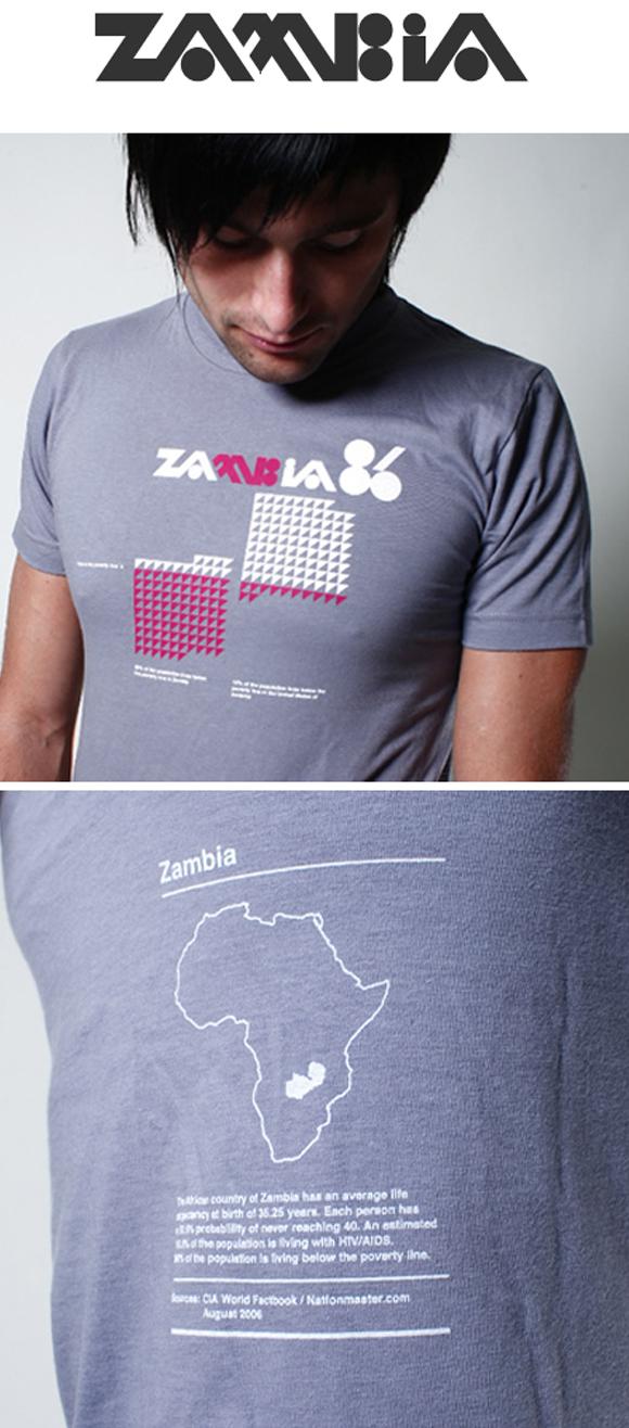 zambia Zambia statistics t shirt