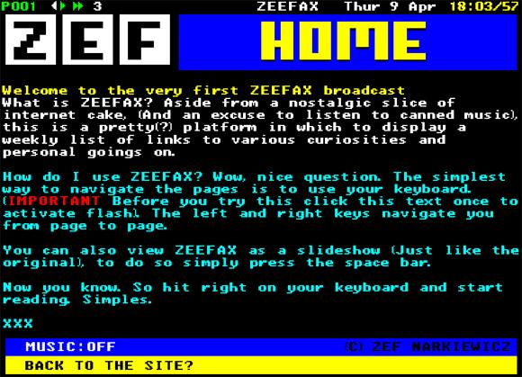 zeefax CEEFAX in Flash   ZEEFAX
