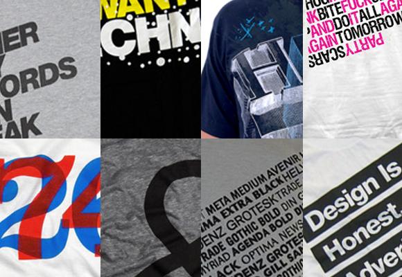 10 typography tshirts 10 Typographic T shirts
