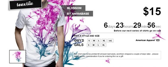Blossom animabase T shirt Blossom in sale teextile