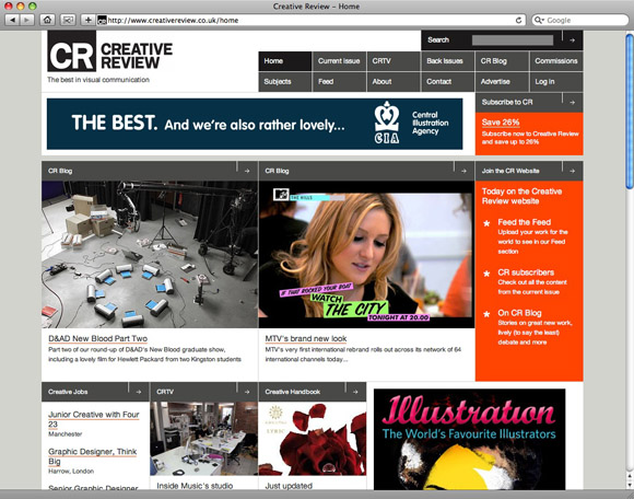 CreativeReview580 Creative Review site update