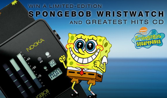 DELETE SPONGEBOB email Win a Limited edition SpongeBob Wristwatch and CD