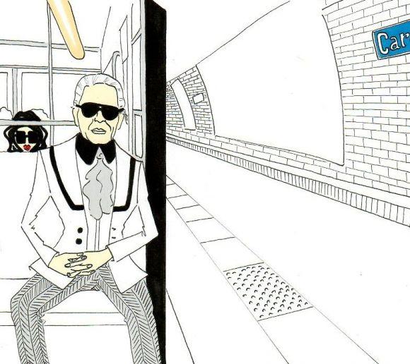 Karl Lagerfeld by Alexsandro Illustrations 5 Karl Lagerfeld Illustrations by Alexsandro Palombo