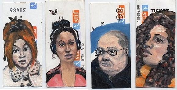 LucGrateau03 Subway Ticket Portraits