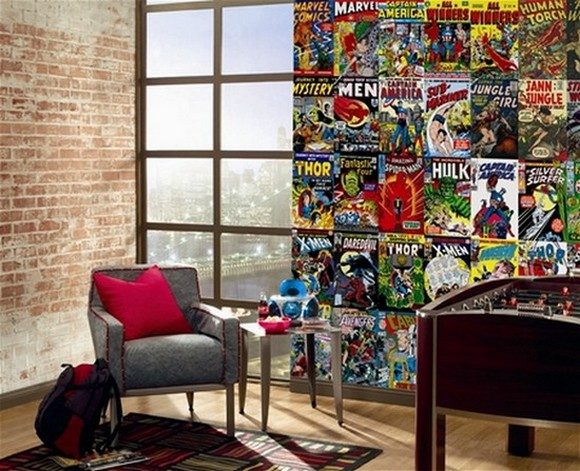 MarvelComicMurals01 Marvel Comic Book Covers XL Mural 9 x 15